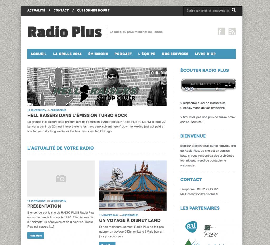 Le nouveau site de Radio Plus