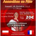 Soirée accordéon en fête avec radio plus )à Douvrin le samedi 18 octobre 2014