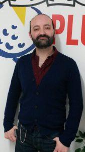 Le conteur Fabien Delorme, à Radio Plus (janvier 2017)