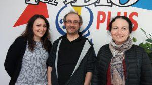 Michaël Moslonka, Jennifer Delva et Charlotte Dillies-Lambriquet pour les lectures de La Vie des Livres