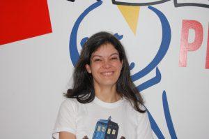 La conteuse Manuella Yapas, à Radio Plus, en décembre 2016.
