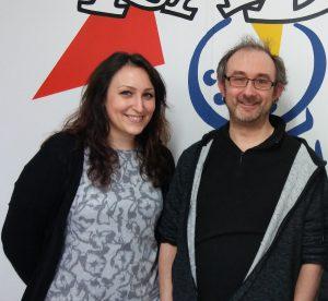 Jennifer Delva et Michaël Moslonka, à Radio Plus