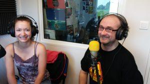 Mélina Meurin et Michaël Moslonka, à Radio Plus