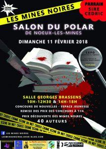 Affiche salon du polar Les Mines noires 2018 - Noeux les Mines